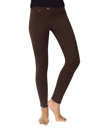 Coffee Bean Chino Leggings