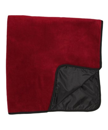 Black & Burgundy Four-in-One Travel Throw