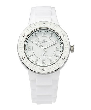 White & Silver Acqua Watch - Women