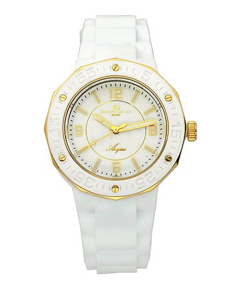 White & Yellow Gold Acqua Watch - Women