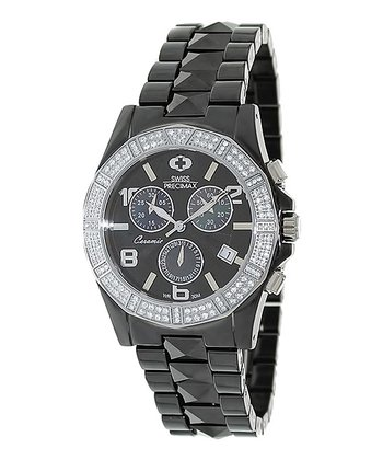 Gunmetal & Silver Luxe Elite Watch