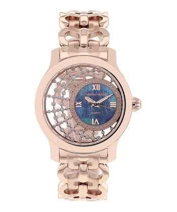 Purple & Rose Gold Mother of Pearl Delicate Watch