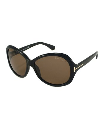 Shiny Black Cecile Sunglasses