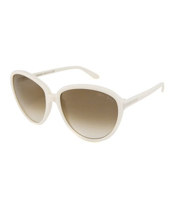 White Margreth Sunglasses