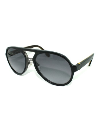 Black Round Pilot Sunglasses