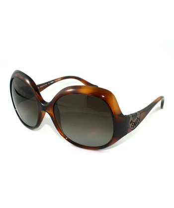 Havana Tapering Butterfly Sunglasses