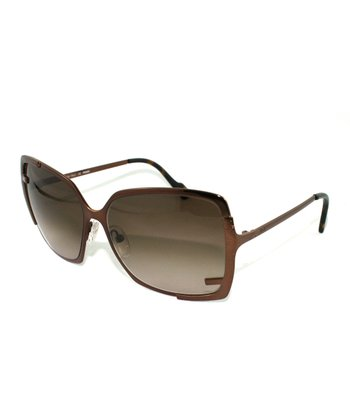 Bronze Thin Metal Butterfly Sunglasses