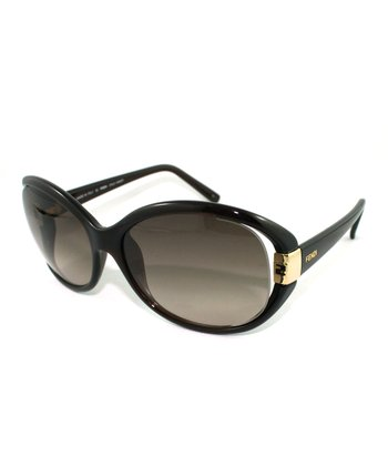 Brown Cat-Eye Cutout Sunglasses