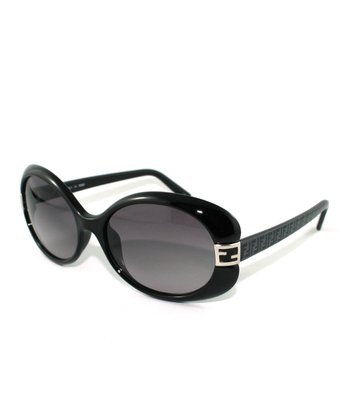 Black Thick Bug-Eye Sunglasses
