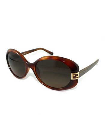 Light Havana Thick Bug-Eye Sunglasses