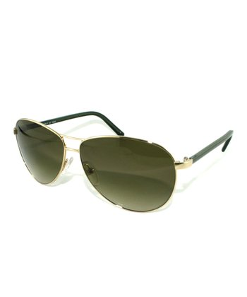 Gold & Gray Classic Pilot Sunglasses