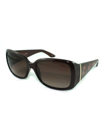 Brown Thick Rectangle Sunglasses