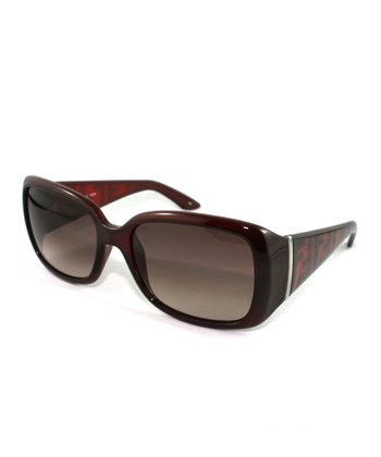 Red Thick Rectangle Sunglasses