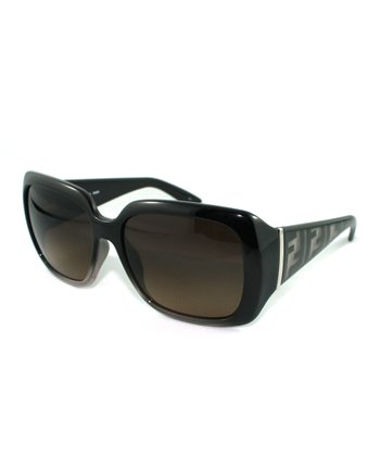 Black Fade Thick Contrast Rectangle Sunglasses