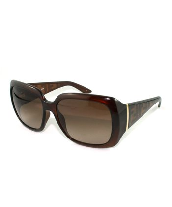 Brown Thick Contrast Rectangle Sunglasses