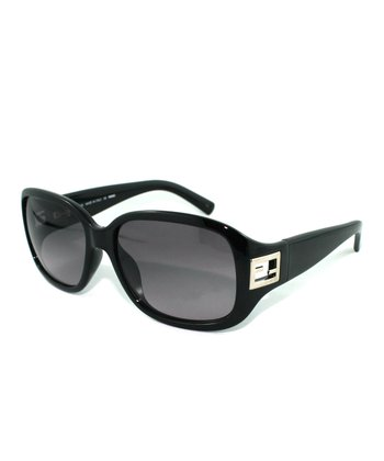 Black Cutout Square Sunglasses