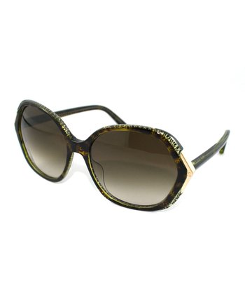 Havana Geometric Sunglasses