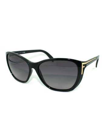 Black Metal Strike Cat-Eye Sunglasses