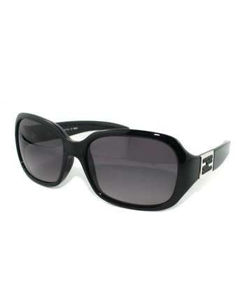 Black Silver Accent Butterfly Sunglasses