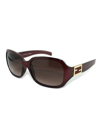 Sangria & Gold Accent Butterfly Sunglasses