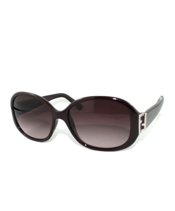 Eggplant Rounded Butterfly Sunglasses