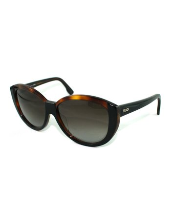Tortoise Crisp Cat-Eye Sunglasses