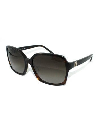 Havana Geometric Butterfly Sunglasses