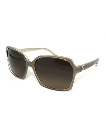 Gray Geometric Butterfly Sunglasses