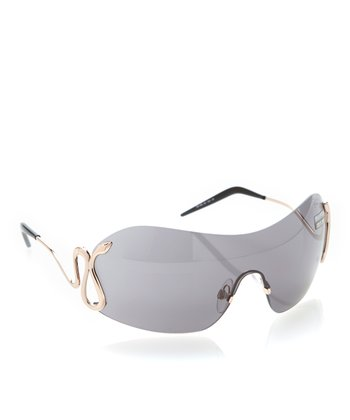 Gray Gradient & Gold Metal Talia Sunglasses