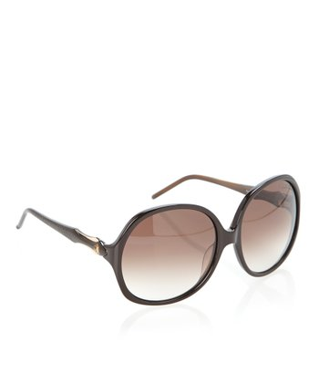 Beige & Dark Brown Bougainvillea Sunglasses