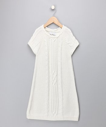 Ivory Sweater Dress - Girls
