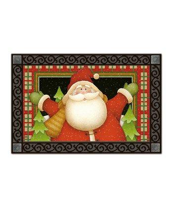 Plaid Santa Doormat