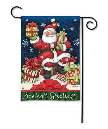 Santa's Gifts Garden Flag