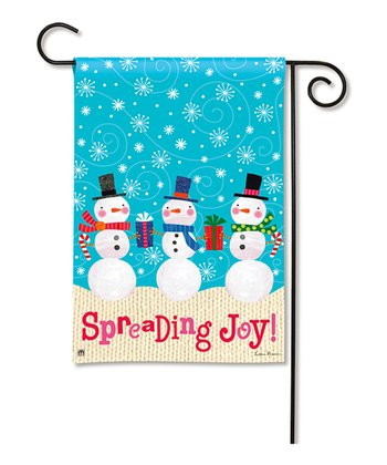 'Spreading Joy' Garden Flag