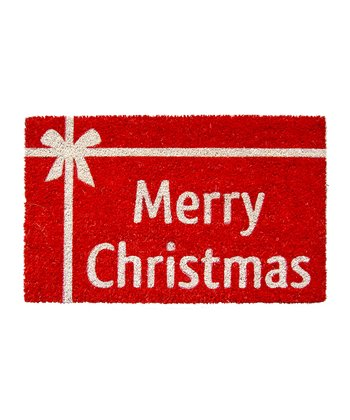 Red Christmas Present Doormat
