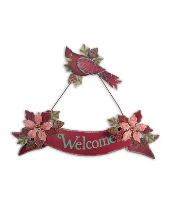 Red Cardinal Banner 'Welcome' Sign