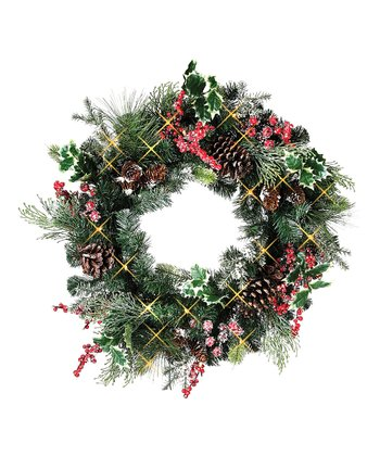 Frosted Holly Berry Wreath