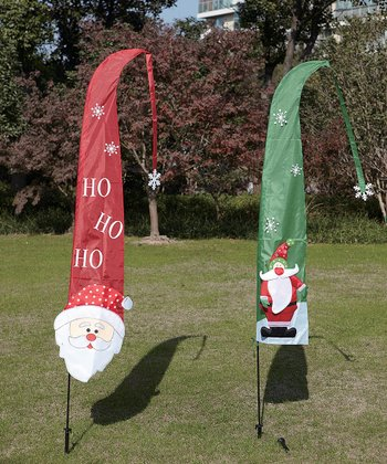 'Ho Ho Ho' Santa Flag Set