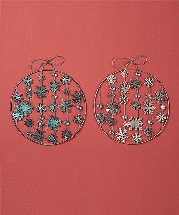 Snowflake Ornament Wall Décor Set