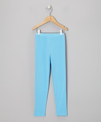 Fiesta Blue Leggings - Infant & Girls
