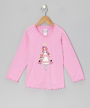 Pink Parisian Tree Tee - Infant, Toddler & Girls