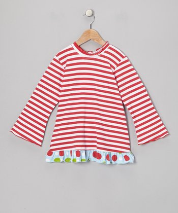 Red Stripe Ruffle Top - Infant, Toddler & Girls