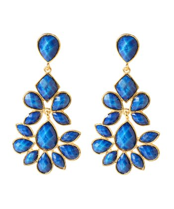 Lapis & Gold Nello Drop Earrings