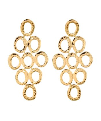 Gold Casablanca Drop Earrings