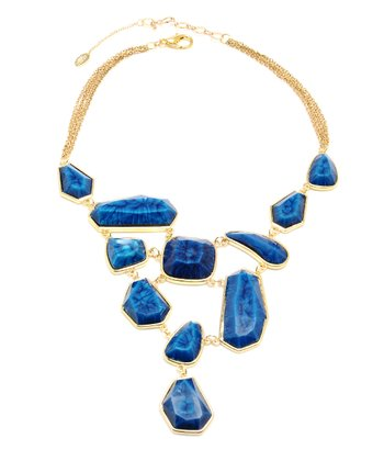 Lapis & Gold Heidi Bib Necklace