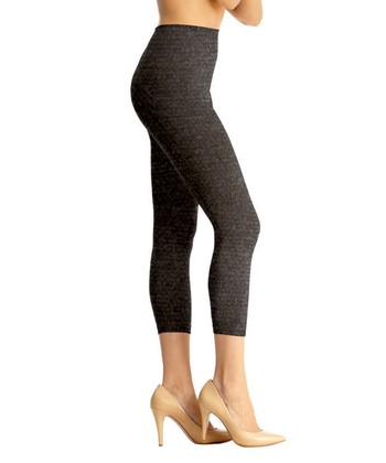 Heather Charcoal High-Waist Shaper Leggings - Women