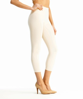 White High-Waisted Leggings - Women