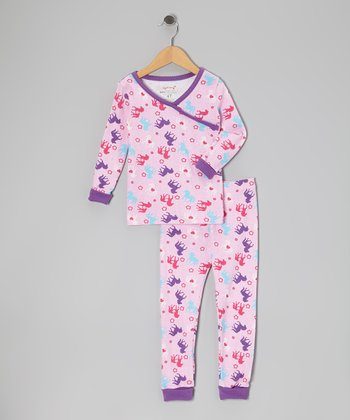 Pink Little Pony Organic Pajama Set - Toddler & Girls