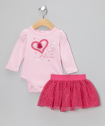 Pink 'Little Princess' Bodysuit & Skirt - Infant