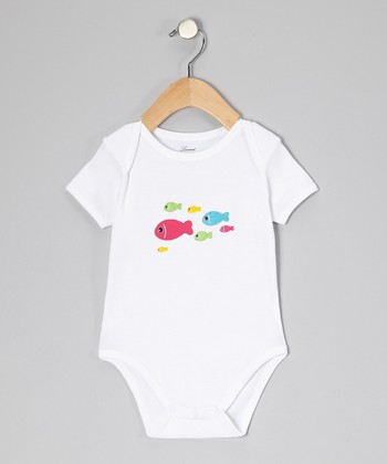 White Fish Bodysuit - Infant